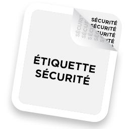 Étiquette de sécurité